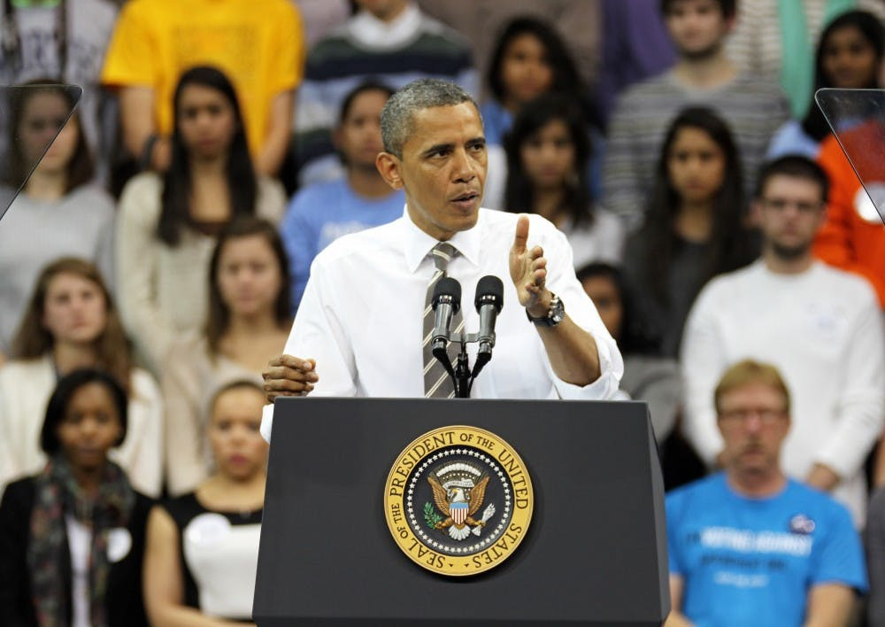 President Barack Obama visits UNC to deliver an address on higher education and student loans