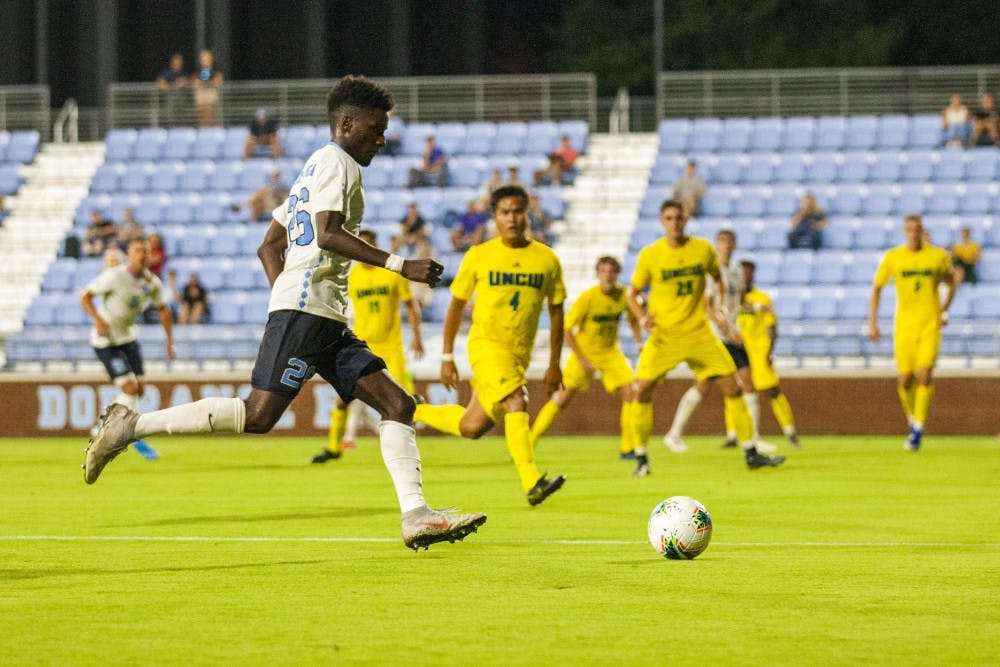 Defense and Pieters step up in UNC men's soccer 2-0 win over UNCW