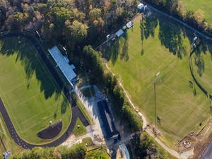 The athletic fields of Chapel Hill High School sit empty on Wednesday, Nov. 4, 2020.