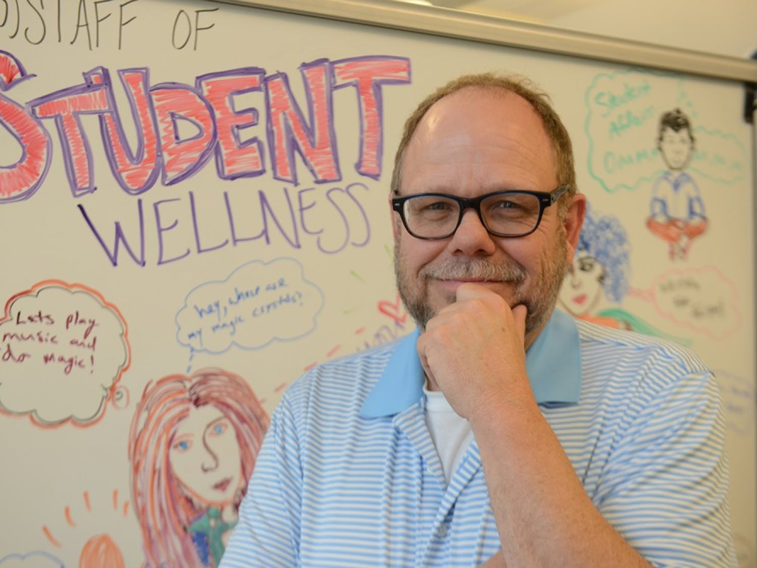 Frank Allison, Program Coordinator of Recovery Initiatives, makes himself available to students going through the recovery process.