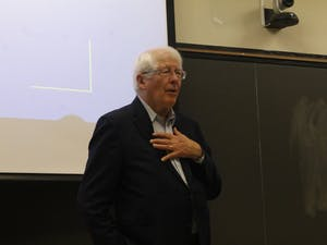 U.S. Rep. David Price, D-N.C., addressed members of the UNC Young Democrats and UNC students on Monday in Gardner Hall. He spoke about the state of American politics and the future of the Democratic Party.
