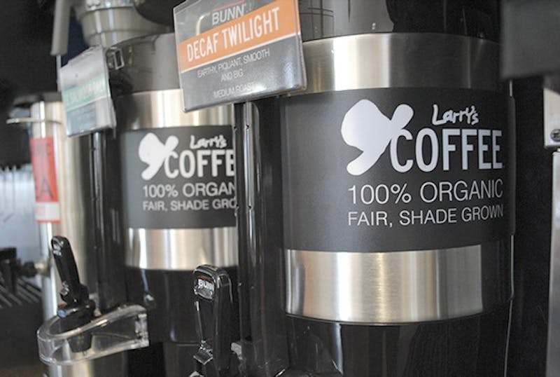 Larry's Coffee, a 100% organic and fair trade product, is extending its services from UNC Hospitals to dining halls on campus.