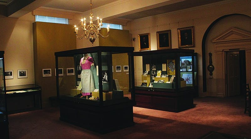 The Playmakers collection of original plays is being shown in Wilson Library. Recordings, original documents, and artifacts are on display to represent the group's fifty-six year history.