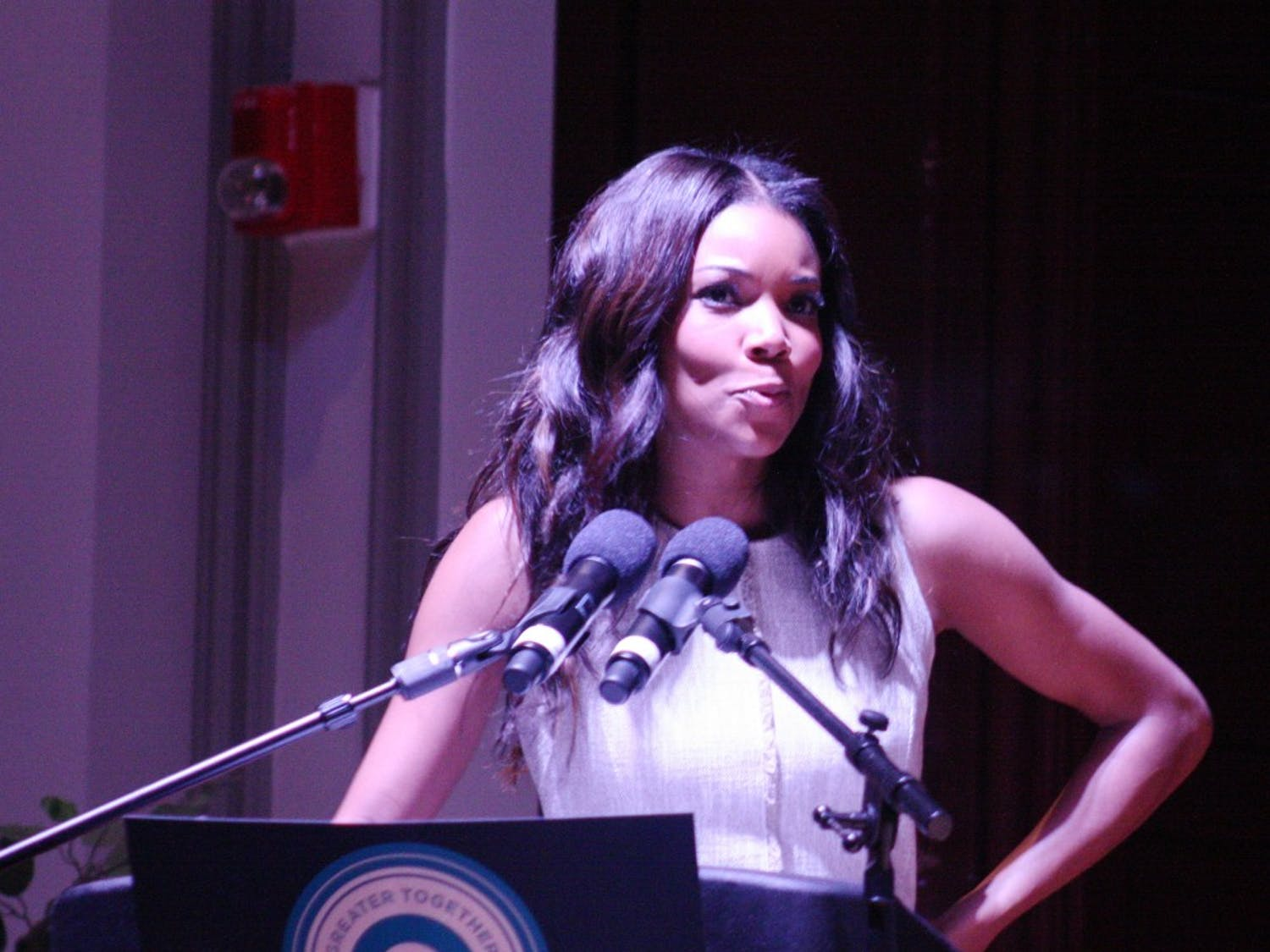 "Actress, and moderator for this event, Gabrielle Union talked about the importance of having a president who understands what we (college students) are going through. She addressed the incredible turnout of the event. ""We were looking for five hundred (people), we got one thousand."" ""We showed them how it's done."""