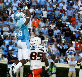 Kendric Burney picked off three passes in UNC's 33-24 win against Miami. DTH File/Phong Dinh