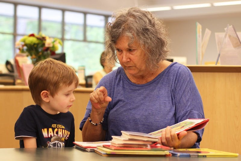 Gwen Todd and her grandson, Owen, visit the Chapel Hill Public Library often.