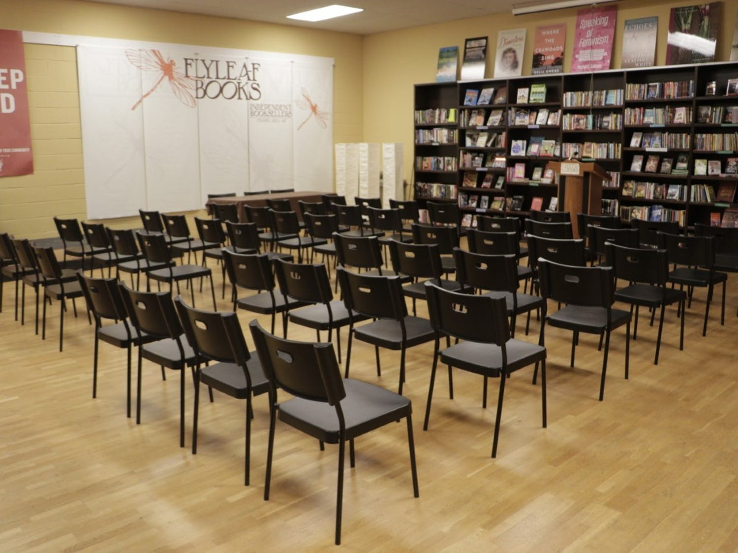 "The venue where Flyleaf Books is holding a virtual discussion with the authors of ""From Here to Equality."" Photo courtesy of Talia Smart."