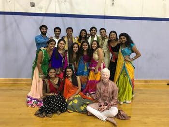 The Tar Heel Raas team at the 2018 garba. Photo courtesy of Nirbhay Sutaria.