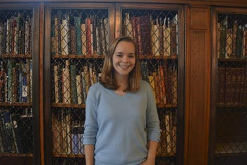UNC sophomore, Grace Towery, wrote a paper for English 120, using the rare book collection in Wilson Library, that is now being published in a humanities journal