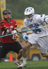 Men's Lacrosse lost 7-6 to Maryland on Saturday, April 22 at Koskinen Stadium at Duke in Durham, NC.