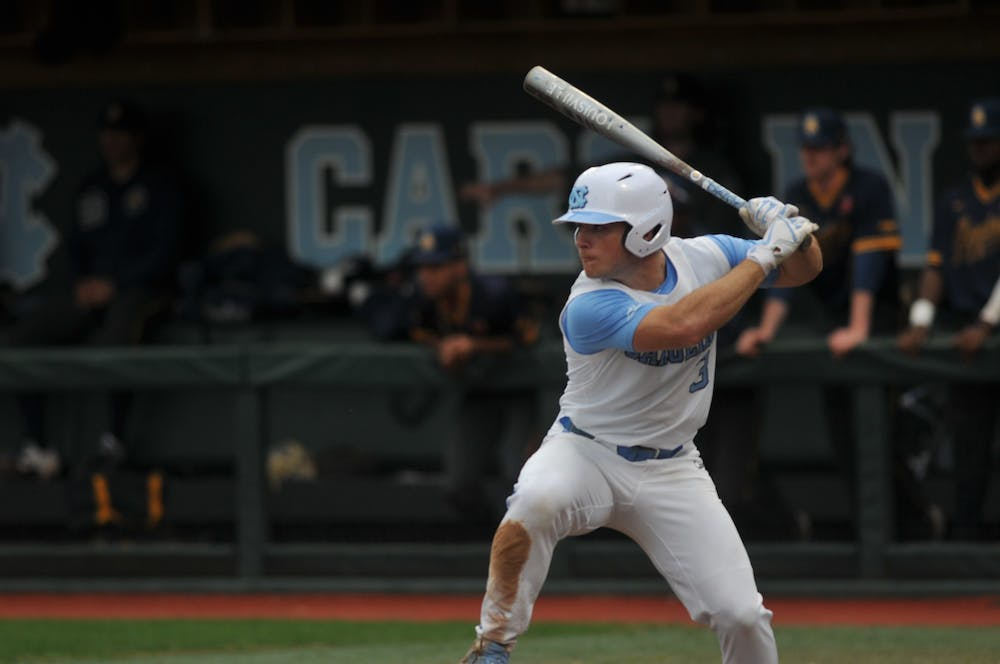 412-foot bomb from Dylan Harris highlights UNC baseball's 12-5 win over UNCG
