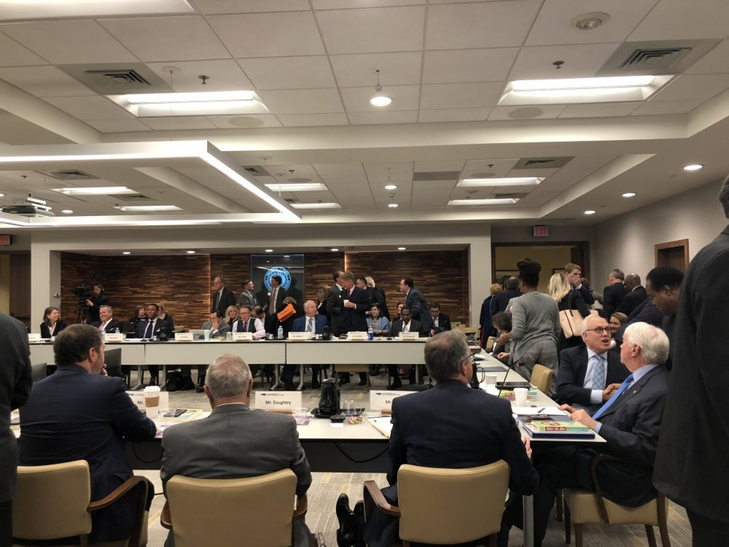 The Board of Governors' Nov. 9, 2018 meeting included remarks from Margaret Spellings on her announcement to resign as UNC-system president, a public comment session on Silent Sam and a grant supporting adult students.