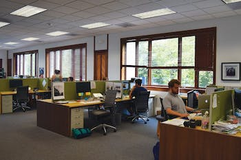 Employees work at Kalisher, which received a spot on the Triangle Business Journal's 50 fastest-growing companies list.