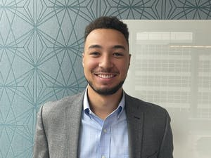 Shea Rush, private wealth manager and former UNC basketball player, poses for a virtual portrait at his office in Chicago, IL on Oct. 12.