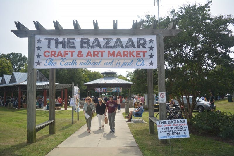The Carrboro Bazaar Arts and Craft Market was held on Sunday afternoon where people from the community bought and sold art.