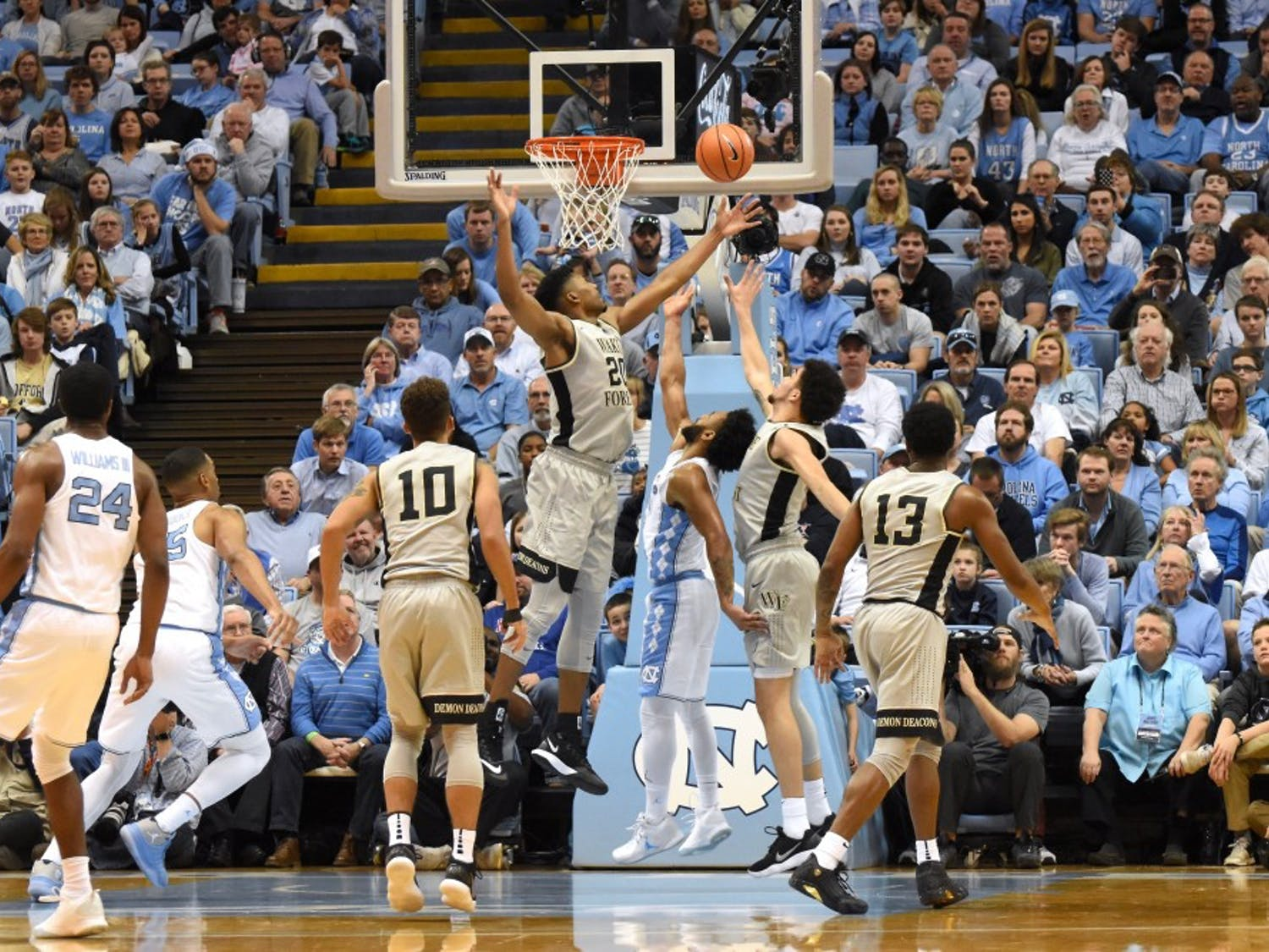 UNC men's basketball is now 1-0 in the Atlantic Coast Conference after defeating Wake Forest 73-69 at home.