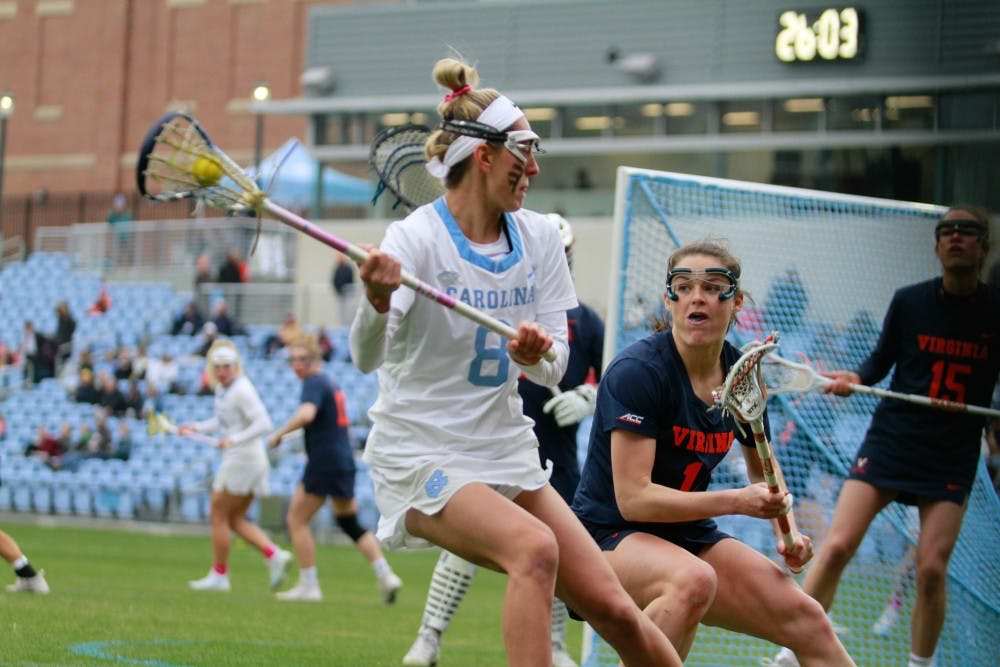 Two late goals send No. 3 UNC women's lacrosse past No. 5 Virginia, 13-12