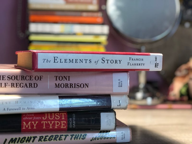A stack of books from the Chapel Hill Public Library on Thursday, May 14, 2020. The Library has since decided that it will not be reopening in Phase One of North Carolina's COVID-19 recovery plan.