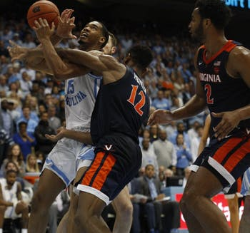 No. 4 Virginia took down the No. 8 North Carolina men's basketball team in the Smith Center, 69-61, on Monday night.