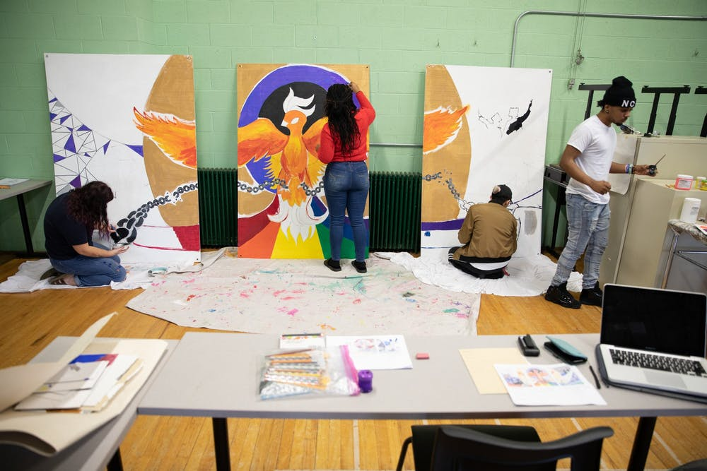 Student art brings color to the Lincoln Center year-round