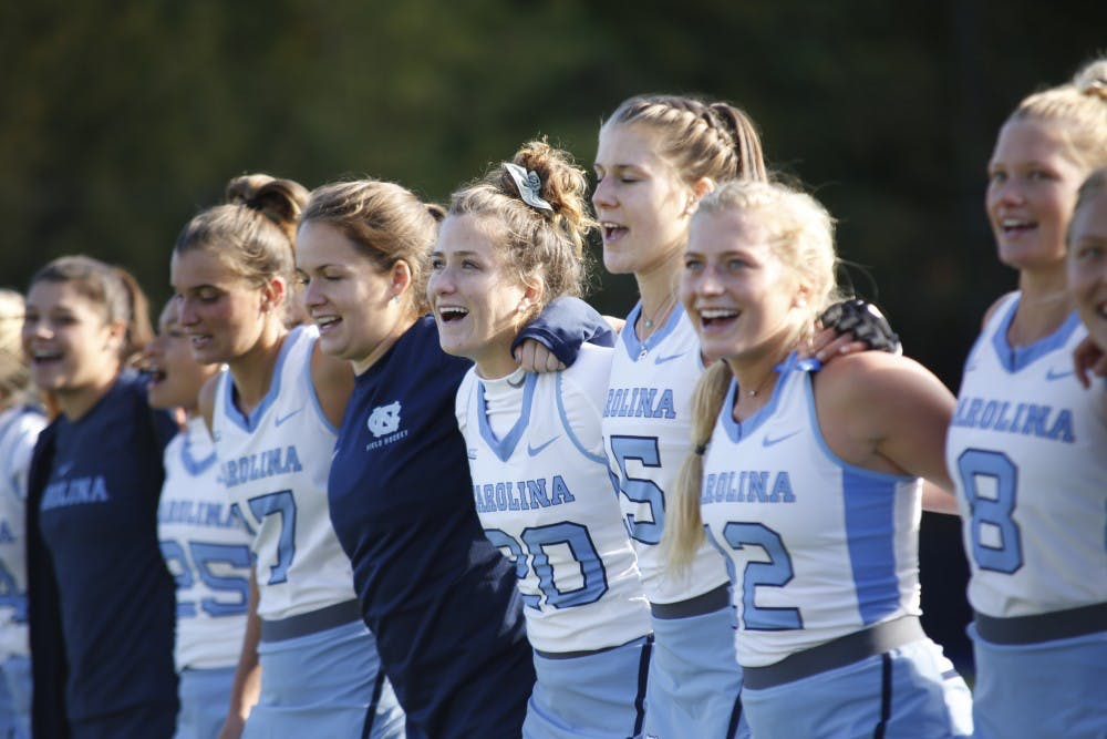 UNC field hockey team experiments, prepares for season in scrimmage with Duke