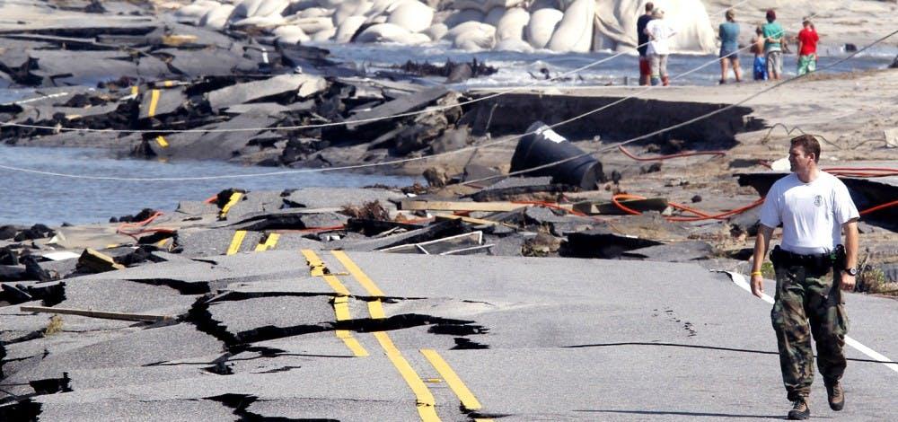 Hurricane Irene hits NC as a category 1 storm