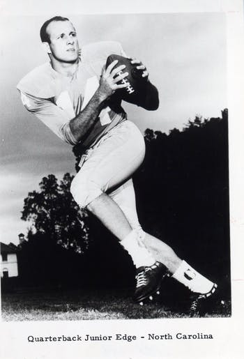 Former Quarterback Junior Edge from Fayetville, N.C. played for UNC-Chapel Hill in the early 1960s. Photo courtesy of Jeremy Sharpe.