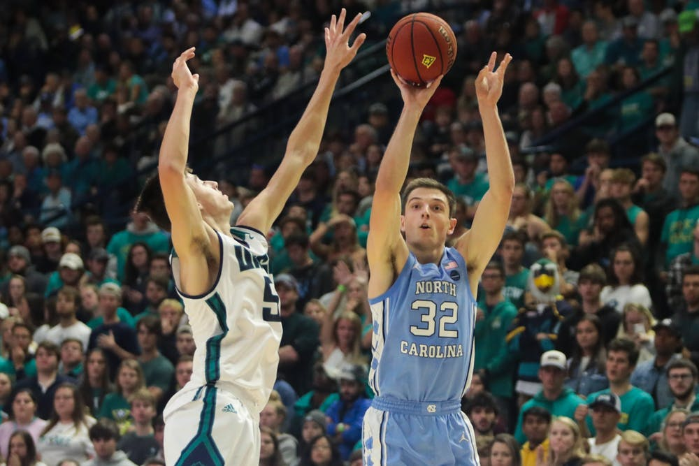 On a familiar court, Justin Pierce's 18 points help UNC basketball to win over UNCW