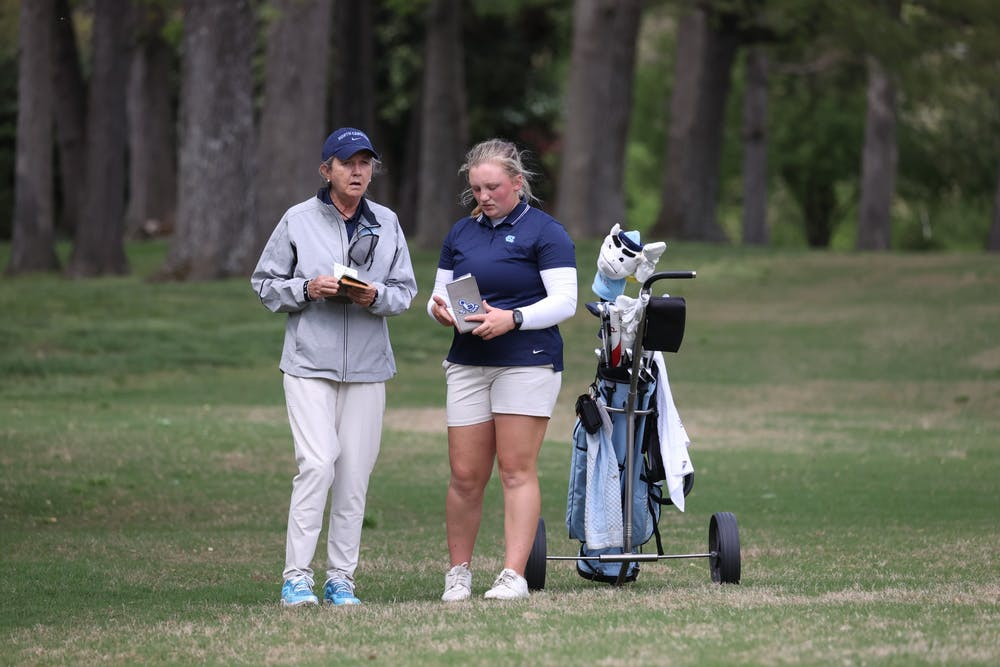<p>Head women's golf coach Jan Mann is retiring after 12 seasons with the Tar Heels. Photo courtesy of UNC Athletic Communications.</p>