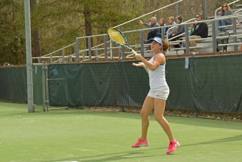 The North Carolina women's tennis team plays Notre Dame at 11 A.M. on Mar. 26.