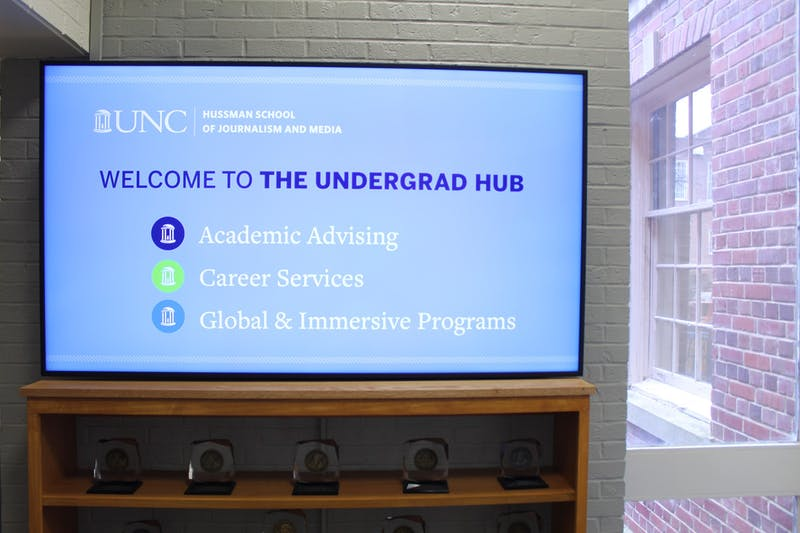 The Undergraduate Hub at Carroll Hall is an advising center for students in the UNC Hussman School of Journalism and Media. The Undergraduate Hub has undergone a few changes recently in hopes to better assist students in career services.