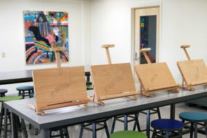 An art studio will open in the basement of Morrison on Monday. Photo by Emilie Poplett.