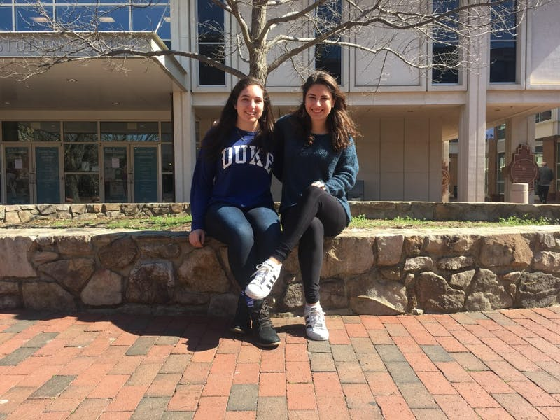 Sara Shmueli, left, is a sophomore majoring in economics at Duke. Brooke Bekoff, right, is a sophomore majoring in political science and history at UNC.