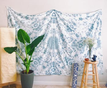 Photo of a tapestry from Tapestries by Ash. Photo courtesy of Ashley Zheng.