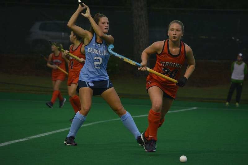 The UNC Women's Field Hockey team overcame Virginia in 3-2 overtime victory on Friday, October 7.