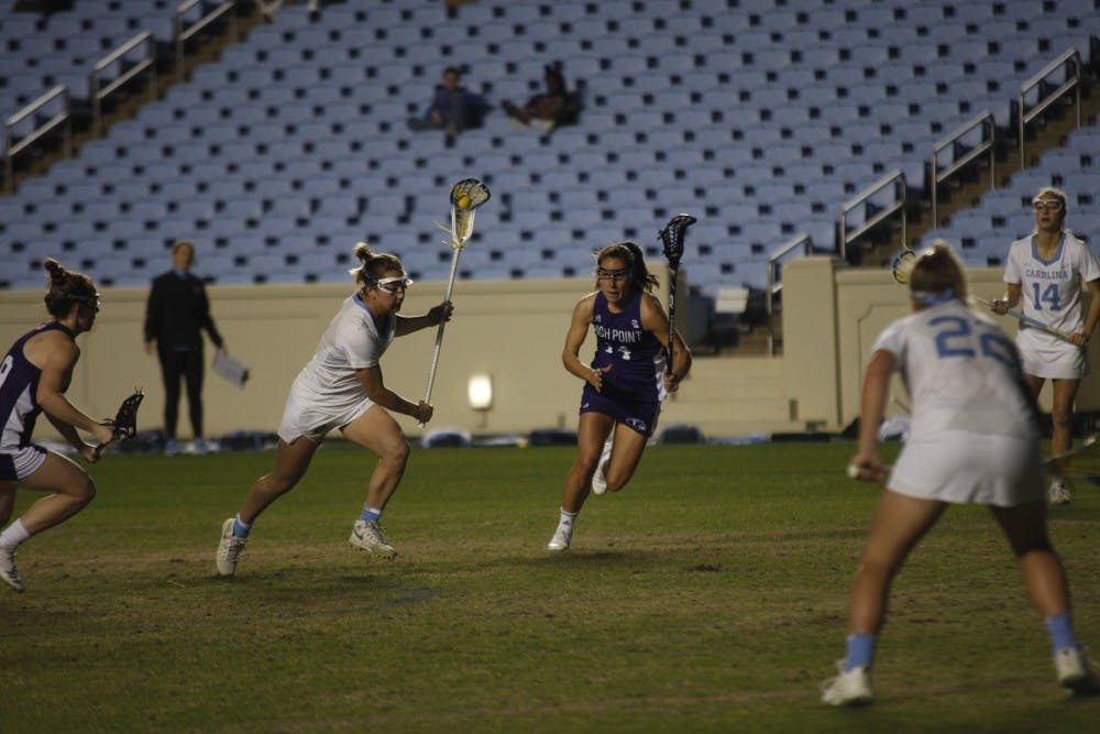 UNC women's lacrosse falls in back-and-forth offensive battle to Notre Dame