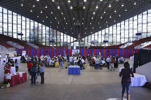 On Oct. 12, members of the media gathered in Dorton Arena in Raleigh to taste the different foods that will be available at the 2015 N.C. State Fair. Inside the arena, tasters could sample foods such as deep-fried pimento cheese, corn in a cup and deep-fried s'mores and Pop-Tarts. The fair will run from Oct. 15 to Oct. 25