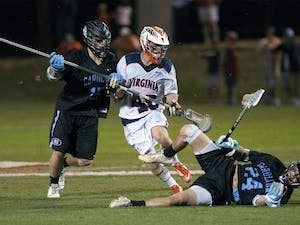 The North Carolina men's lacrosse team was tied with the Virginia Cavaliers before Steve Pontrello's two goals in the third quarter led the team to a win.THE CAVALIER DAILY/LAUREN HORNSBY