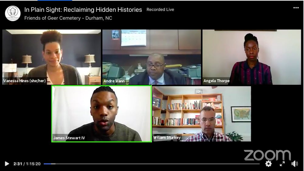<p>The Friends of Geer Cemetery hosted a virtual panel to discuss the importance of preserving historical Black spaces and the inequality surrounding them.</p>