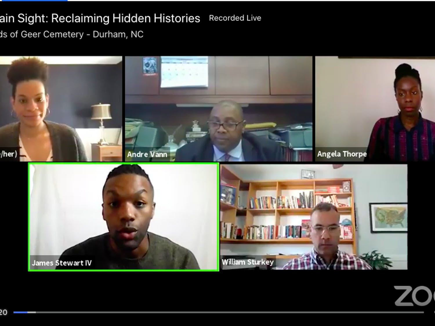 The Friends of Geer Cemetery hosted a virtual panel to discuss the importance of preserving historical Black spaces and the inequality surrounding them.