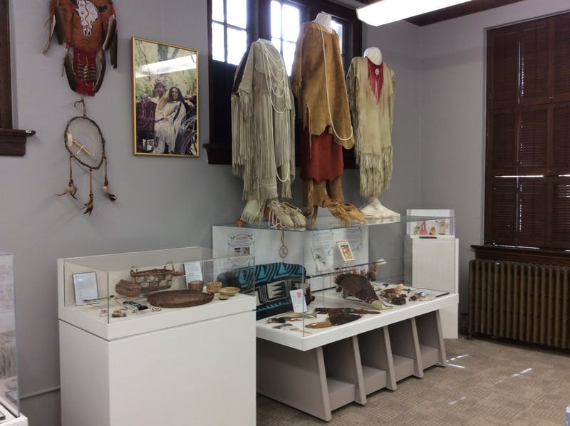 One section of the Occaneechi Museum exhibit. Photo courtesy of the Orange County History Museum.
