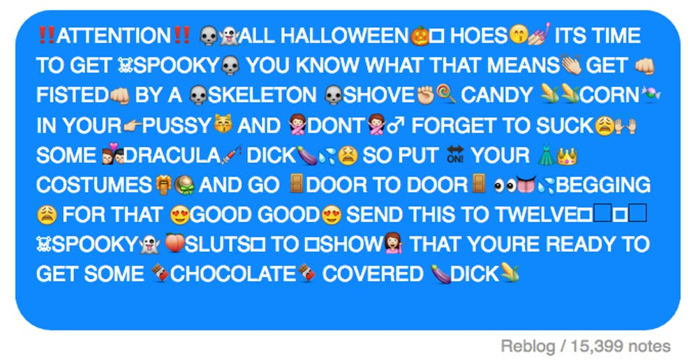 Spooky chain messages to ruin your friends' lives