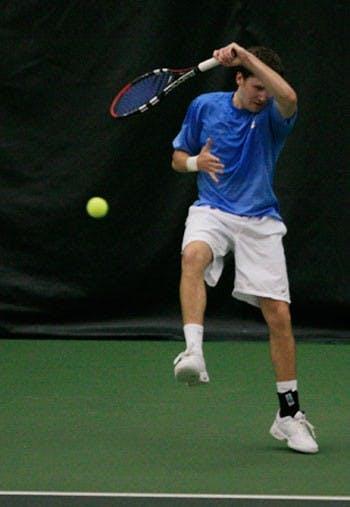 M. Tennis: Freshman Mojica aids UNC tennis victories<br />