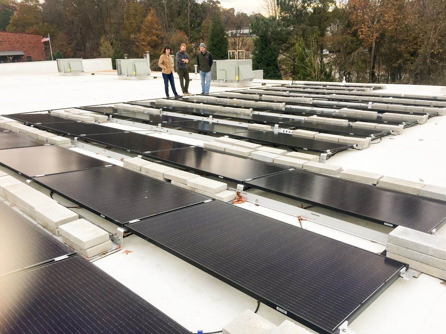 Joe Van Gogh is adding solar panels to the roof of its roasting facility to create clean energy. Photo courtesy of Cindy Sellars.