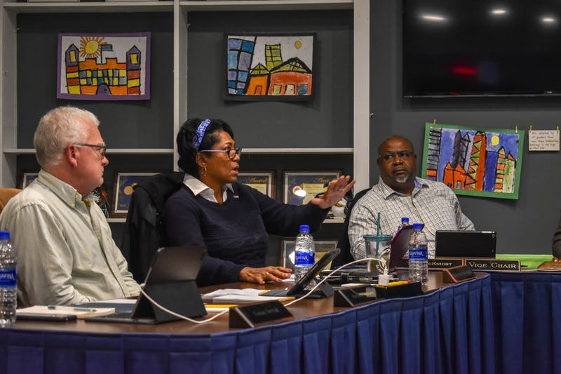 Orange County Schools Board of Education members discuss African American History Month at their meeting on Feb. 10, 2020.