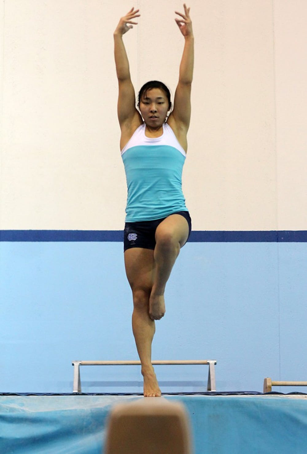 UNC gymnast Michelle Ikoma finds her own way