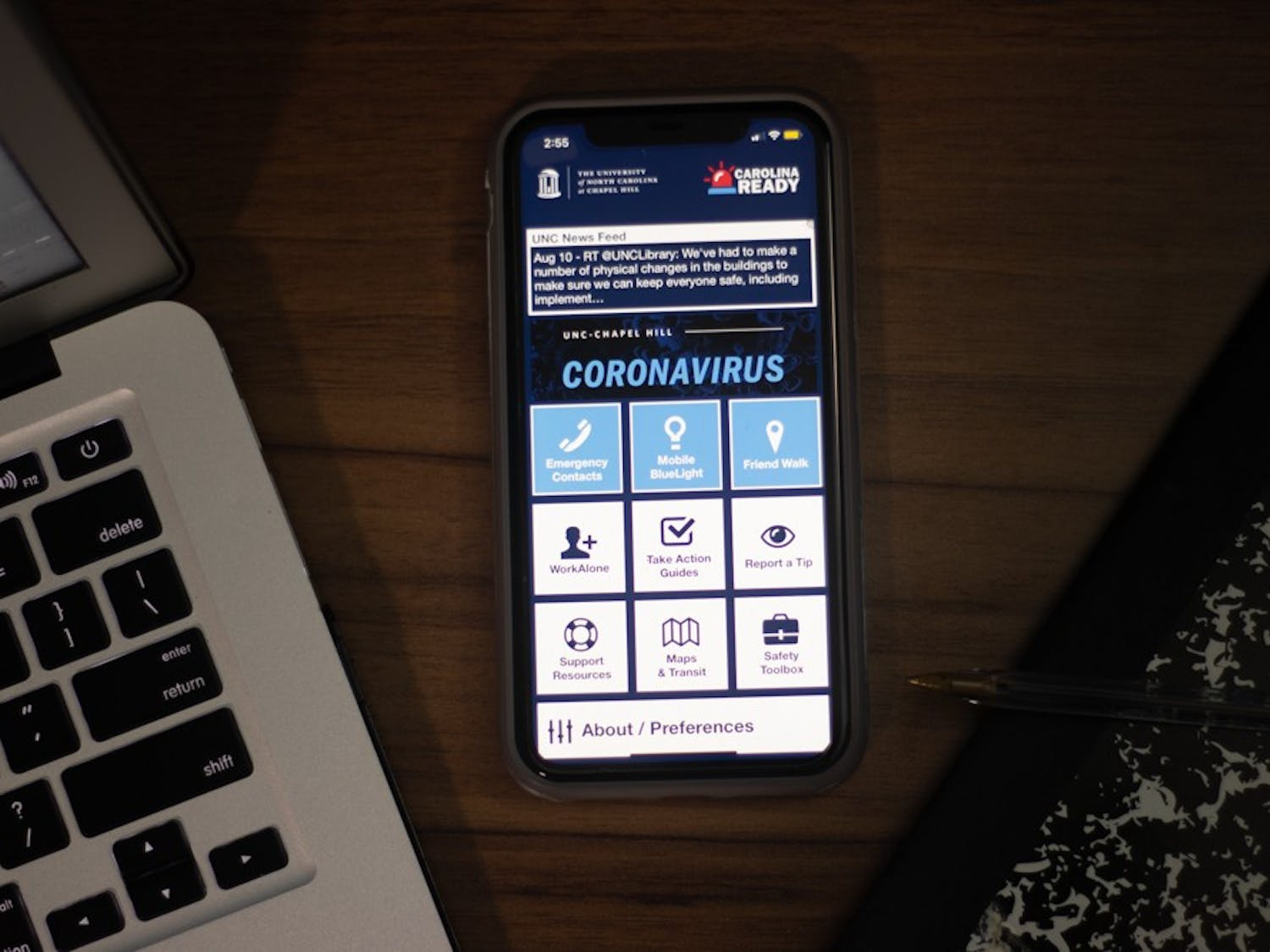 The Carolina Ready app will provide resources for COVID-19 to UNC students, but some people are worried about the safety and security of the app.