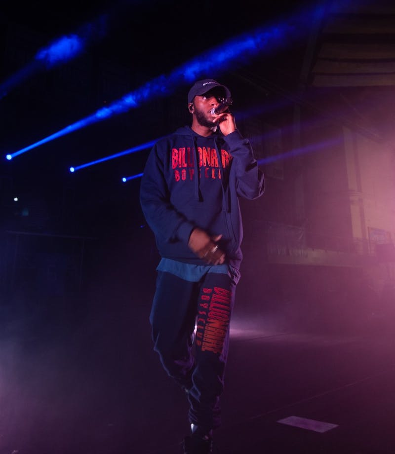 Artist 6lack performs his set in Carmichael Arena on Saturday, Apr. 13, 2019 as part of Jubilee 2019 organized by the Carolina Union Activities Board.