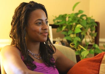Michelle Johnson, a social worker, sits in her office in Carrboro. Johnson announced she will run for a seat on the Carrboro Board of Aldermen.