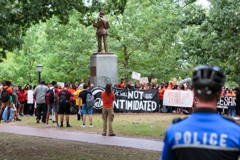 Students explain legal push to remove Silent Sam